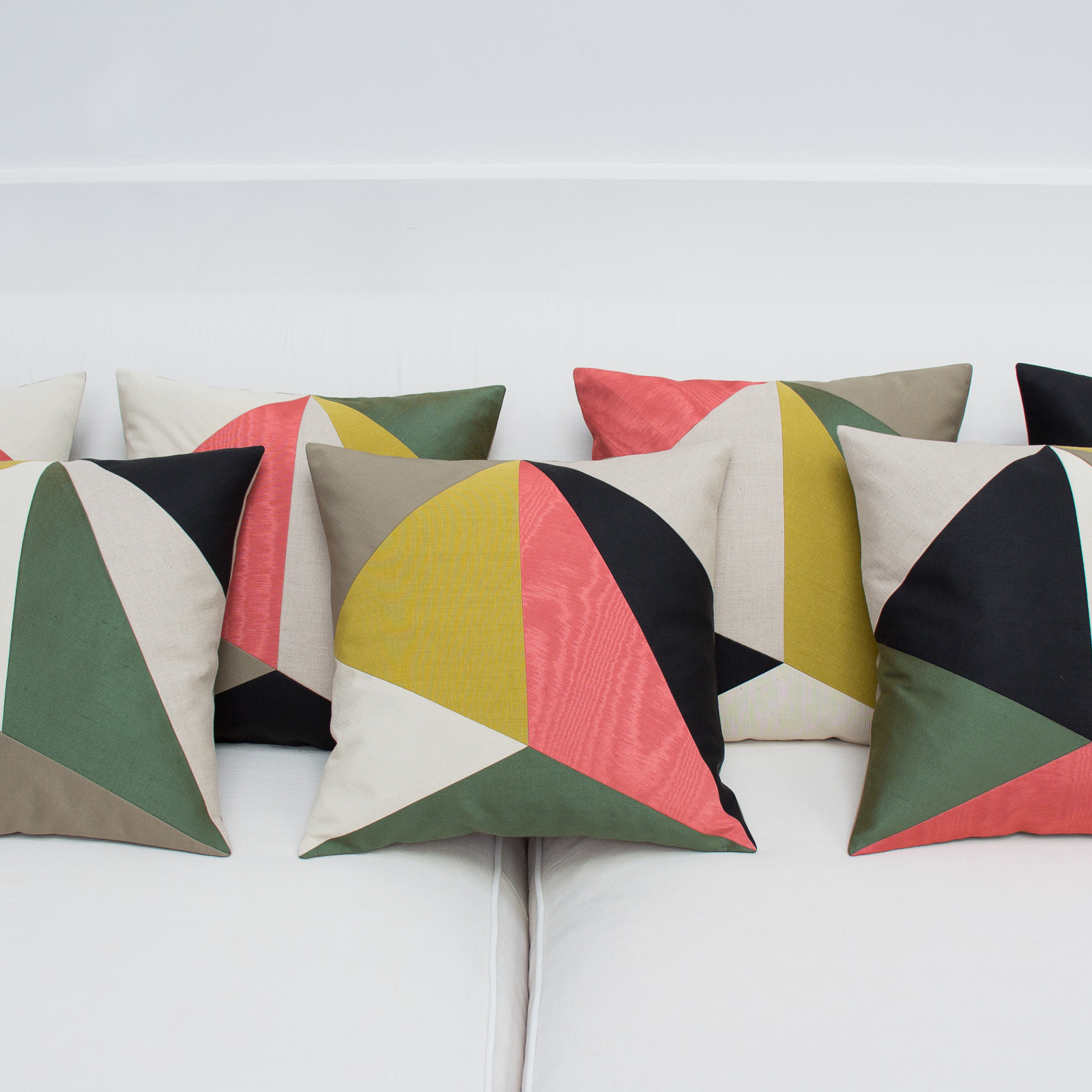 set of luxury cushions