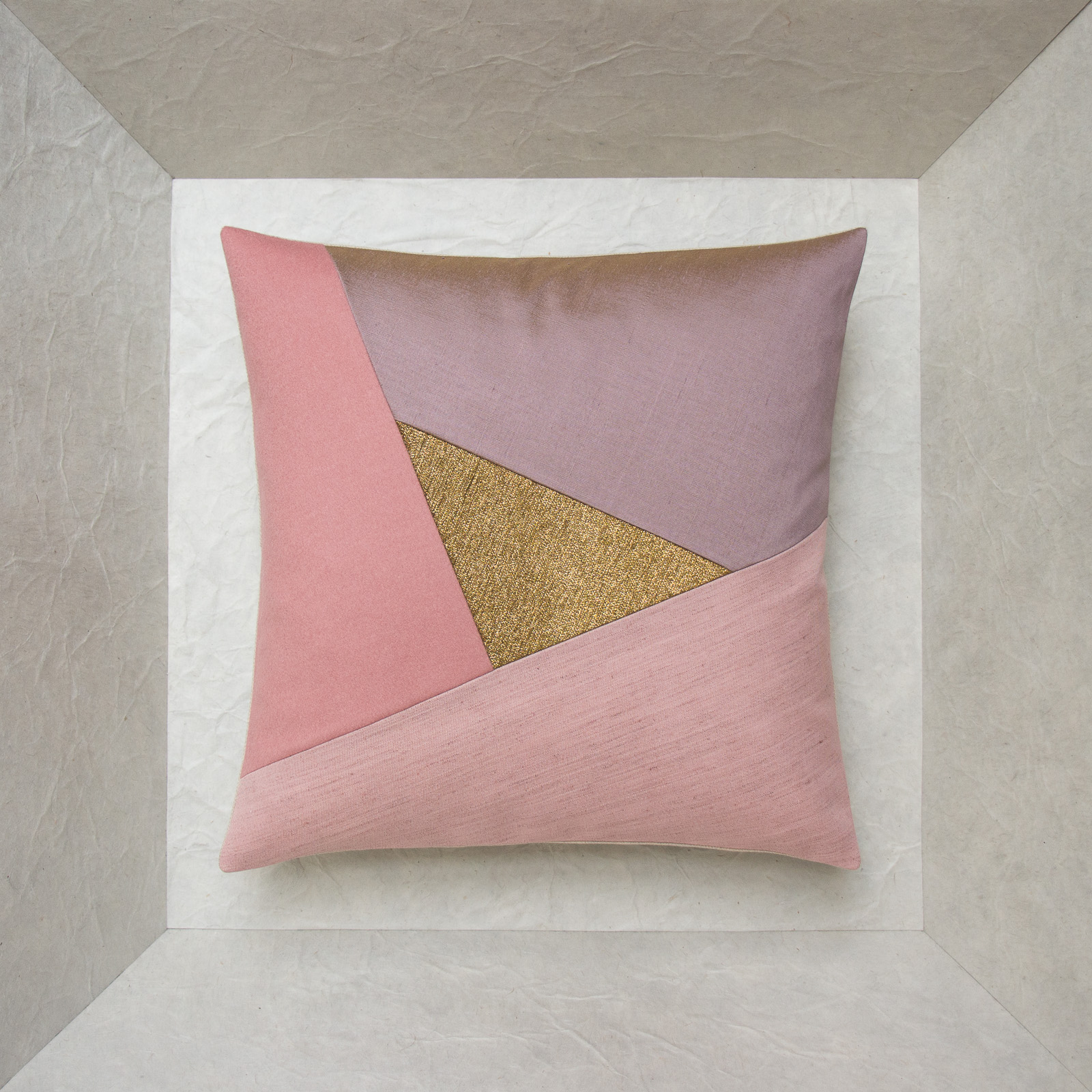 Coussin 40x40 rose