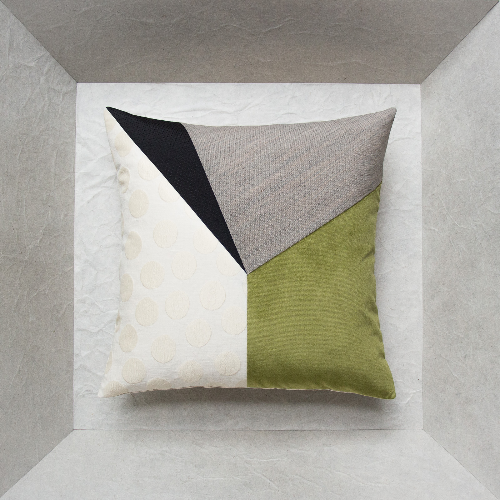 green designer cushion